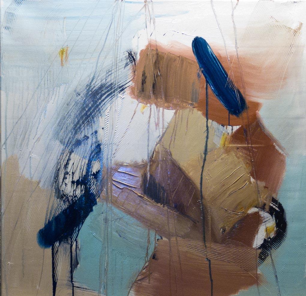 Akt im Rollstuhl, oil on canvas 80x80cm © frau bolza 2015