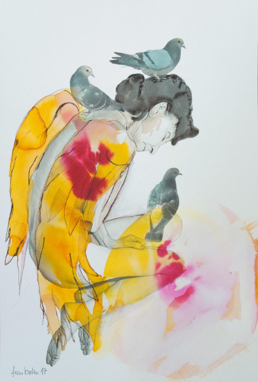 Vogelfrau vs die Akephalie des Mannes© fraubolza 2017